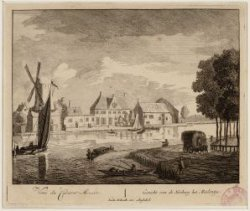 Amstel, gezien van de Amsteldijk naar de Herberg het Moolentje aan de (tegenwoor…