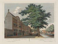 Gezicht van het Van Brantzen-Rus Hofje te Amsterdam