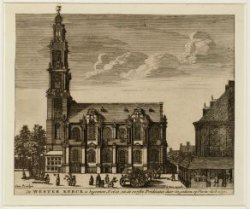 De Westerkerck is begonnen in 1620 en de eerste predicatie daer in gedaen op pin…