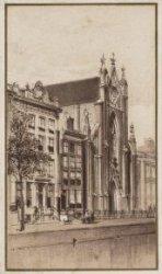De R.K. Onze Lieve Vrouwe Kerk aan de Keizersgracht. Anonieme tekening
