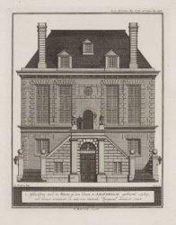 Afbeelding van de Waag op den Dam te Amsterdam, gebouwd 1565; van binnen vernieu…