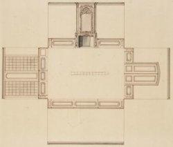 Keizersgracht 224 (Saxenburg). Bouwkundig ontwerp met opstanden van wanden, voor…