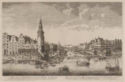A View of part of AMSTERDAM from the harbour Y, Showing the Herrings PackersTowe…