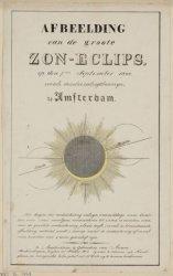 7 September. Afbeelding der groote zon-eclips, waargenomen te Amsterdam