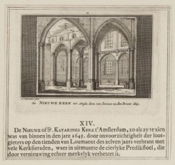 De Nieuwe Kerk tot Amsterdam van binnen na den Brant 1645