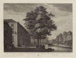 Gezicht van het Waale Weeshuys te Amsterdam