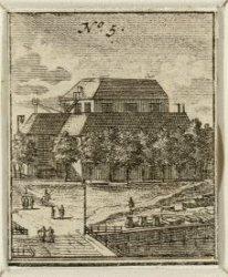 De Amstelkerk op het Amstelveld 4 met links de Reguliersgracht gezien vanaf de P…