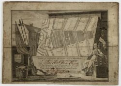 Burgerwachtbriefje waarop afgebeeld de wijkkaart met de oproep voor Jacobus van …