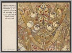 Kleurenreproductie van het karton van een gebrandschilderd glas-in-loodraam in T…