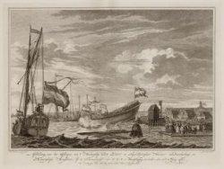 Afbeelding van het Afloopen van 't Hoekerschip De Zon