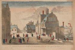 Vue de la nouvelle Hotellerie a Amsterdam prisé du Coté opposé au Port