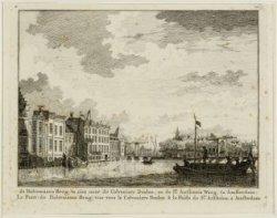 De Halvemaans Brug, te zien naar de Colveniers Doelen, en de St. Anthonis Waag, …