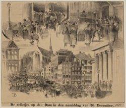 De relletjes op den Dam in den namiddag van 20 December 1892