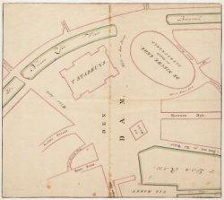 Kaart van de Dam en de omliggende straten