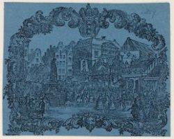 De kermis op de Botermarkt, het tegenwoordige Rembrandtplein, gezien naar de Reg…