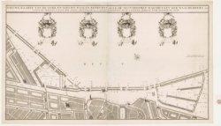 Kaart van de Oude en Nieuwe Waal, met afsluit bomen, wachthuizen, enz. Getekend,…