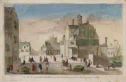 Vue de la nouvelle Hotellerie a Amsterdam prise du Coté opposé au Port