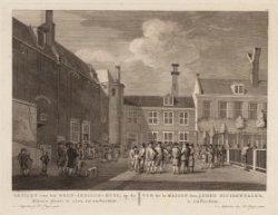 Gezicht van het West-Indisch-Huys, op de Binnenplaats te zien, tot Amsterdam