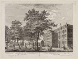 Gezicht van ''t Admiraliteits- of Lands-Magazyn, tot Amsterdam