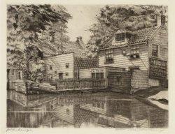Stadhouderskade 43-46, het Polderhuis, bij de Boerenwetering. Techniek: ets