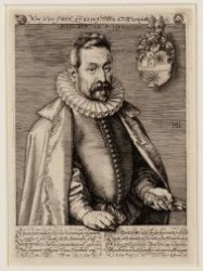 Portret van Jan Nicquet (1539-1608), koopman op Engeland en de Levant, met koopm…