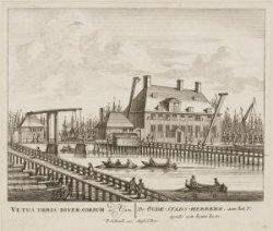 De Oude-Stads-Herberg, aan het IJ; zynde een houte loots