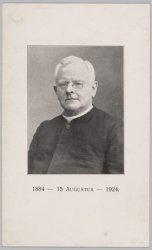 Portret van een geestelijke. Prent naar een foto