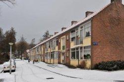 A.M. de Jongstraat 2-14 (v.r.n.l.) in wintertooi