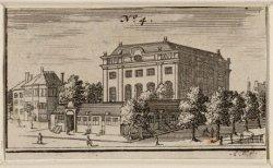 Portugees-Israëlitische Synagoge met Links de Rapenburgerstraat, rechts ingang D…