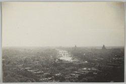 Panorama vanaf de toren van de Zuiderkerk, in zuidelijke richting gezien naar de…