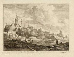 Links de achterzijde van het in 1634 gebouwde huis van Joan Huydecoper van Maars…