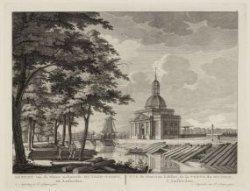 Gezicht van de Nieuw Gebouwde Muyder-Poort, tot Amsterdam