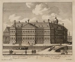 Basilica Amsteladamensis conspectus, via Tranquilla exeuntibus. Het Stadhuis van…