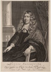Portret van Gillis Vackenier (1623-1682), burgemeester van Amsterdam van 1665-16…