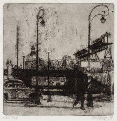 De Ruijterkade gezien naar de Prins Hendrikkade en de Ronde Lutherse Kerk, Singe…