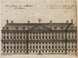 Het Stadhuis van Amsterdam van achteren - Le Derriére de l'H¶tel de ville d'Amst…