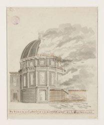 De brand in de Lutersche nieuwe Kerk 18 sept.1822 s'middags twee uuren