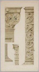Detailschets van de heilige Kruiskapel van de Nieuwe Kerk, Nieuwezijds Voorburgw…