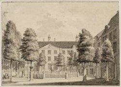 Lauriergracht 116, de binnenplaats van het Evangelisch Luthers Weeshuis