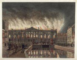 De Stadsschouwburg in den nacht van 19 op 20 Februari 1890, Amsterdam