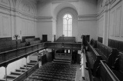 Keizersgracht 676, Nieuwe Waalse Kerk, kerkzaal van bovenaf gezien
