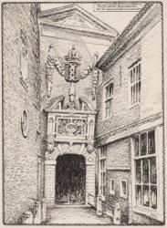 Poortje van het Burgerweeshuis aan de Kalverstraat te Amsterdam
