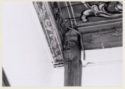 Voorburgwal, Oudezijds 231, interieur Agnietenkapel: onderdeel houtconstructie s…