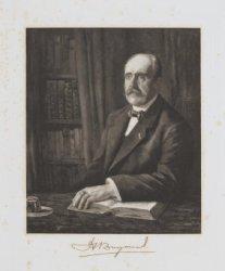 Portret van prof. dr. Hajo Brugmans (1868-1939)