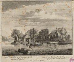 Gezicht van den Omval en de Scheepstimmerwerf, op de hoek van den Ringsloot