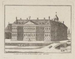 La Maison de Ville d''Amsterdam par derrière