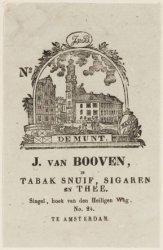 J. van Booven, in Tabak Snuif, Sigaren en Thee