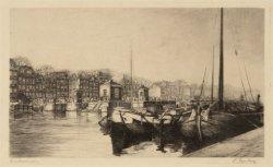 De Amstel met rechts op de voorgrond boten aangemeerd