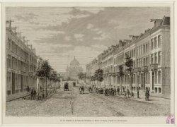 La rue Sarphati et le Palais de l'Industrie - Dessin de Taylor, d'après une phot…