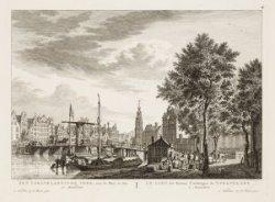 Het 's-Gravelandse Veer, naar de Munt te zien te Amsterdam